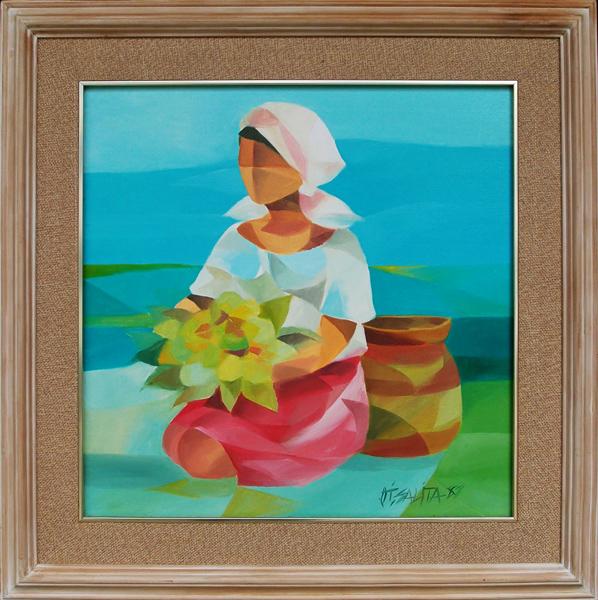 W - OS2020 Oscar Salita - Flower Vendor 1987