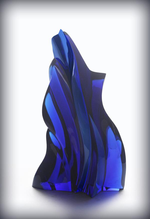 RAO432511 Ramon Orlina - Frondescence In Cobalt Blue (Arch. Dindo Guerrero)